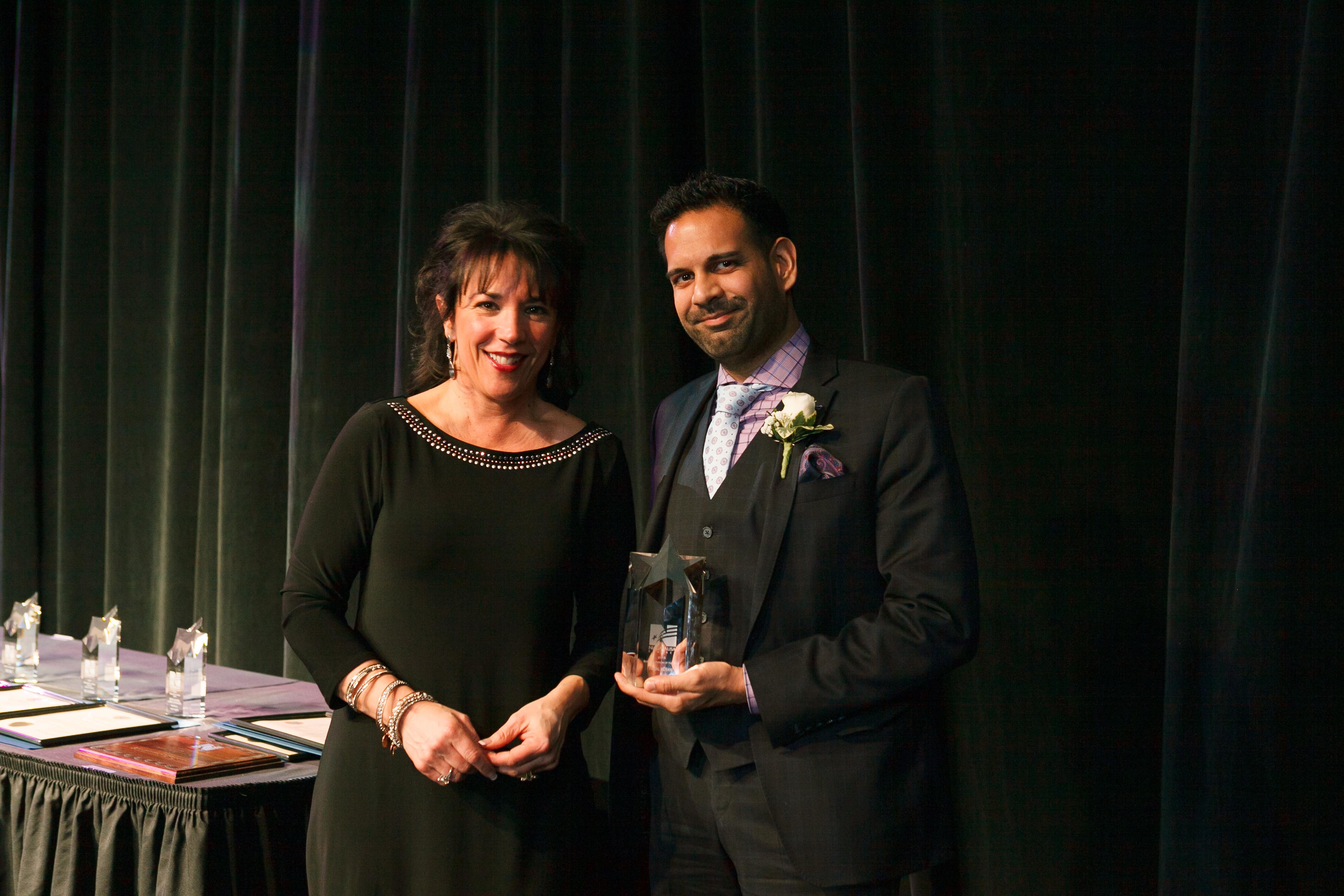 Niagara USA Chamber President & CEO Deanna Alterio Brennen & Faisal Merani, 2015 Business Person of the Year